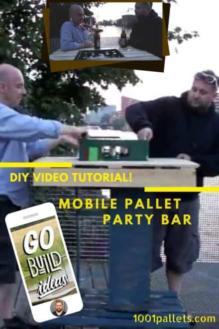 Diy Video Tutorial: Mobile Pallet Bar