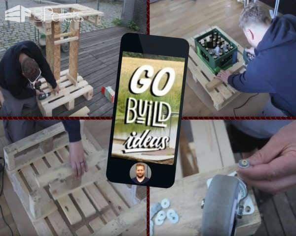 Make a Mobile Pallet Bar that has a recessed ice chest for your next party, and be the envy of your family and friends.