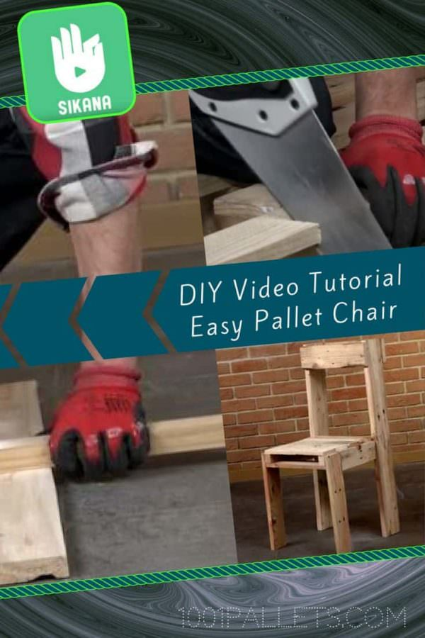 Diy Video Tutorial: Simple Pallet Chair!