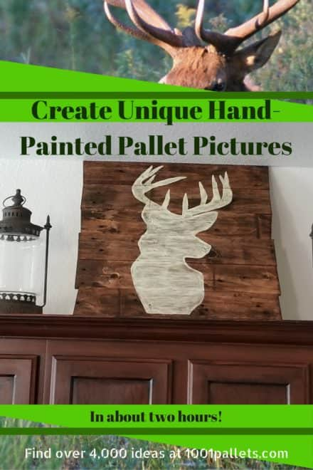 Hand-painted Easy Pallet Picture