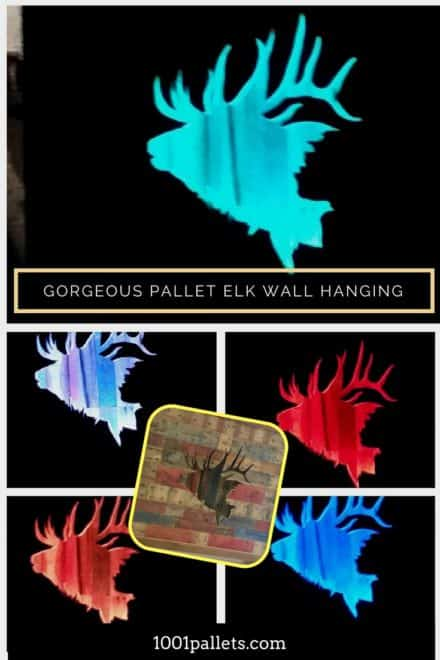 Led-lit Pallet Elk Wall Art