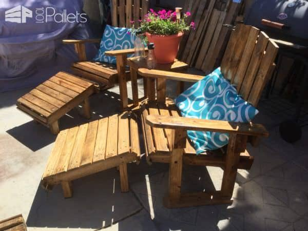 Add cushions or pillows to this Adirondack Chairs Patio Set and you'll be sitting pretty!