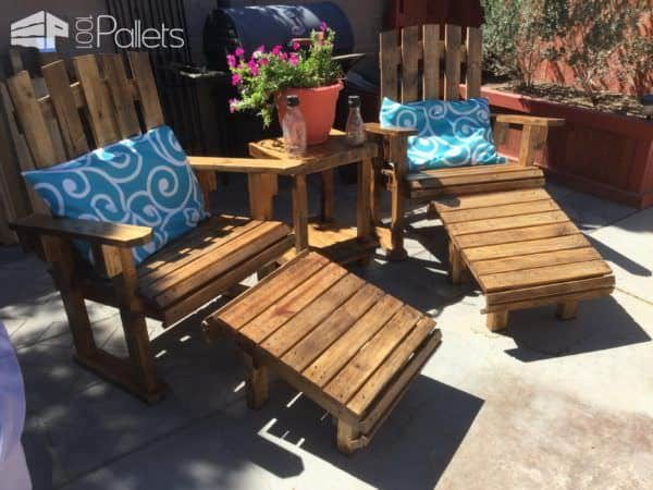This Adirondack Chairs Patio Set does not look like it was upcycled. It could be from an expensive vendor!