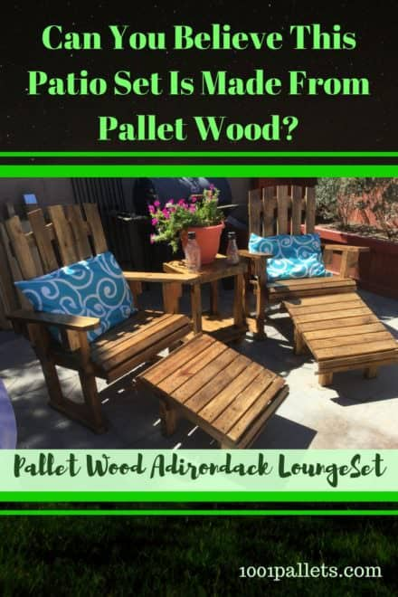 Fantastic Pallet Adirondack Chairs Patio Set