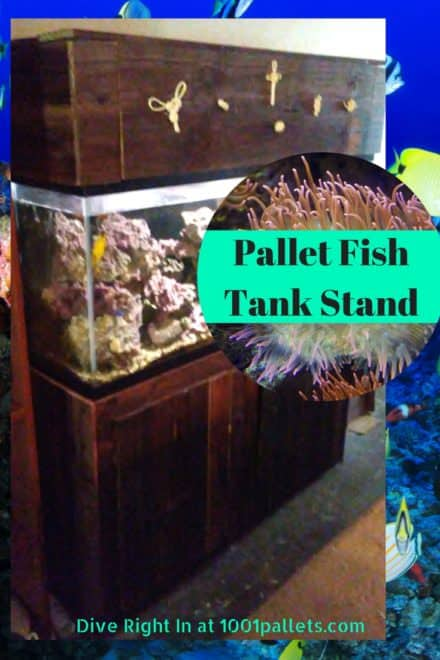 Pallet Fish Tank Stand Has Decorative Knot Hood