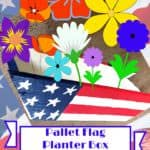 Patriotic Pallet Flag Planter Box