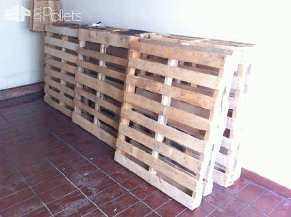 I collected about 10 pallets to complete my Pallet Wood Bed/Headboard.