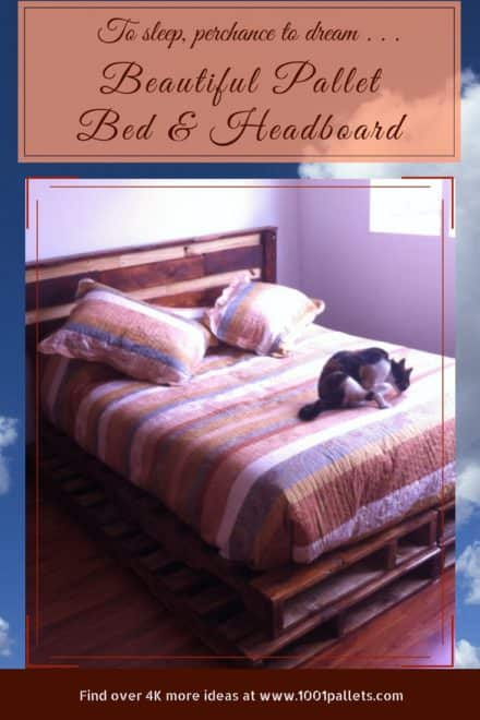 Pedestal Perfect Pallet Wood Bed/Headboard