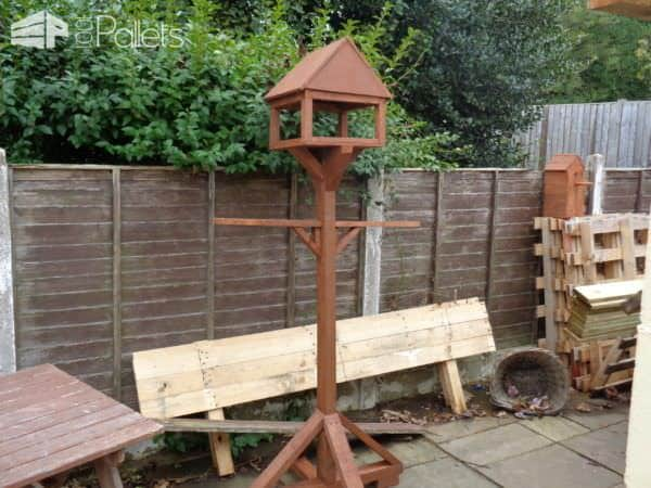 Pallet Birdhouses and pallet planters adorn your garden or outdoor spaces.