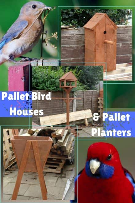 Raised Pallet Birdhouses Plus Planter Project