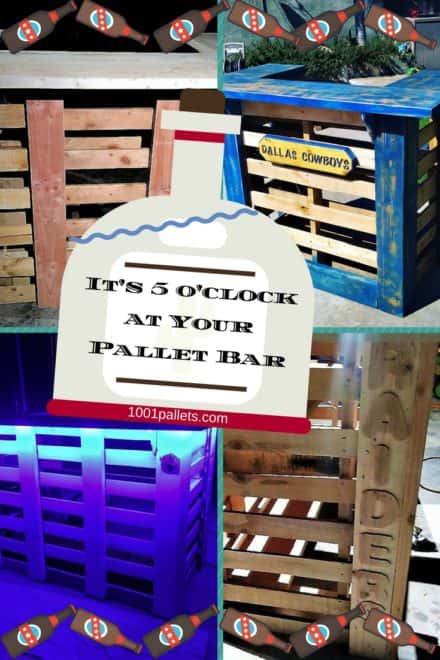 Rustic Pallet Bars Get Parties Started
