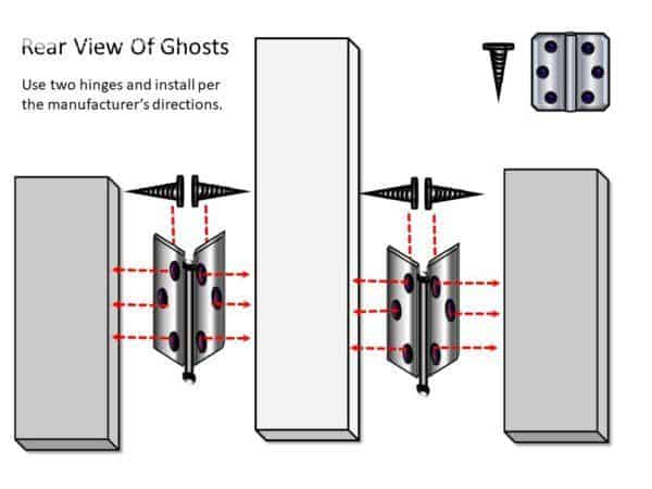 This trio of adorable ghosts is stood up with hinges.