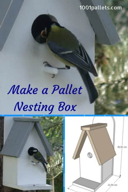 Sweet Little Pallet Nesting Box For Feathered Friends