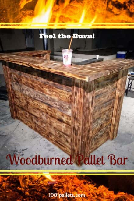 Torched Pallet Bar Won't Burn Your Budget!