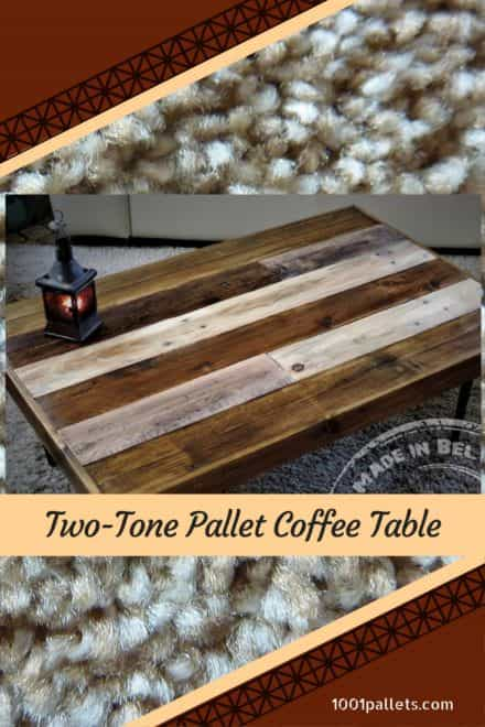 Two-tone Pallet Coffee Table With Hairpin Feet