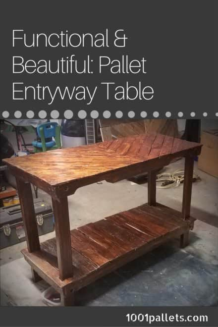 3-pallet Chevron Pallet Entryway Table