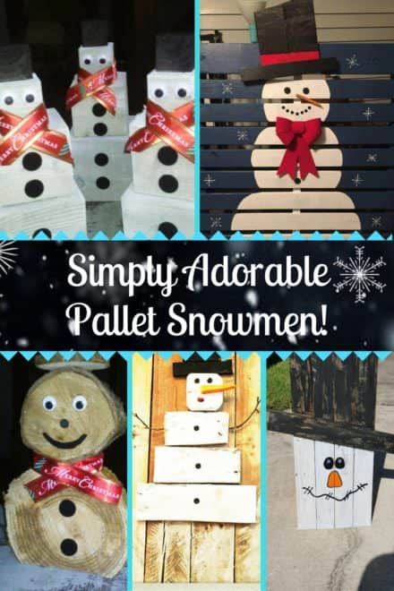 5 Easy Pallet Snowman Ideas For Your Holidays!