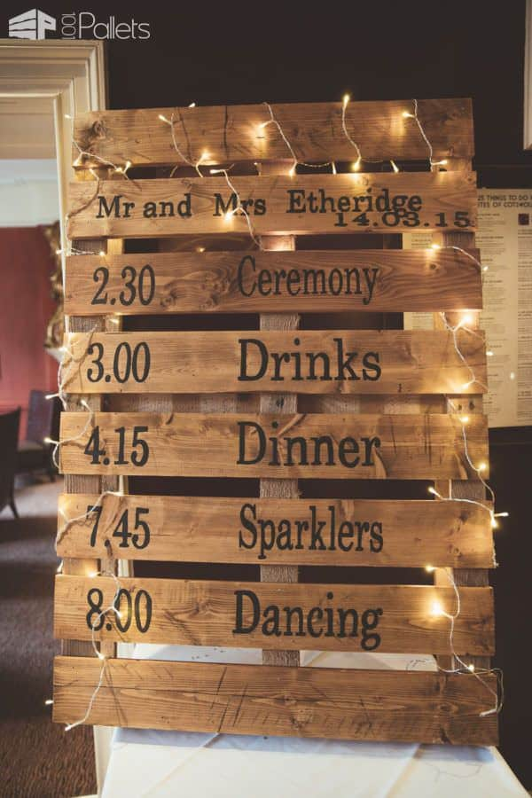 Do It Yourself Home Design: 5 Ways To Use Wood Pallets For Your Wedding Decor • 1001