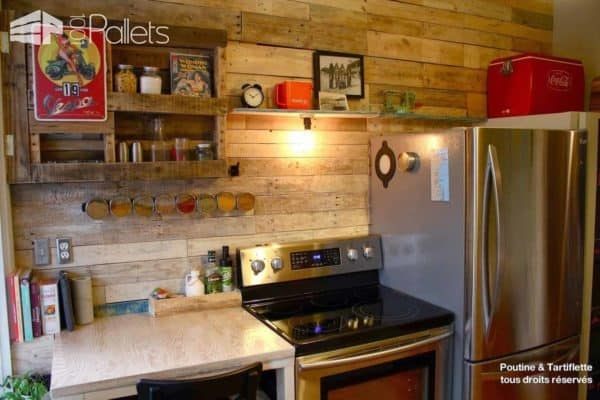 Add Style Quickly More Than 50 Beautiful Pallet Wall Ideas 1001 Pallets