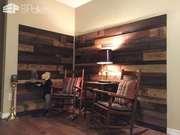 This idea is a briliant way to create a peacful corner to relax in. Another one of our Pallet Wood Walls ideas to inspire you!