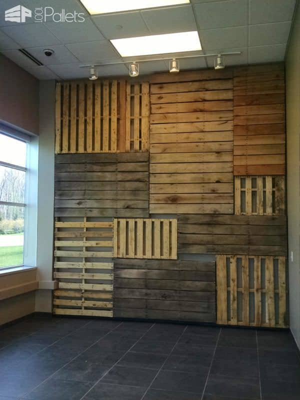 Add Style Quickly: More Than 50 Beautiful Pallet Wall Ideas