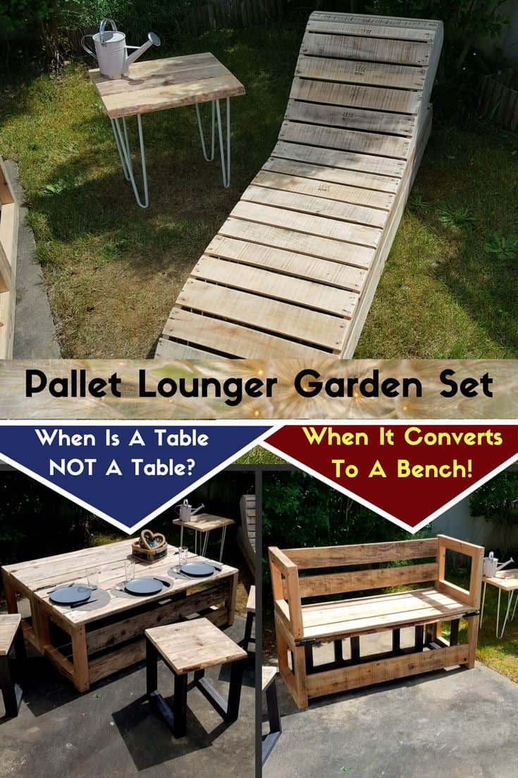 convertible pallet lounge set - Garden Ideas With Pallets