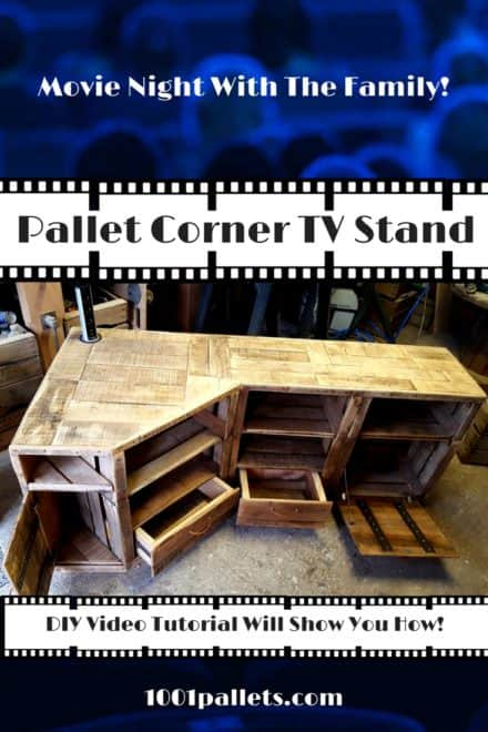 Diy Video Tutorial: Corner Pallet TV Stand
