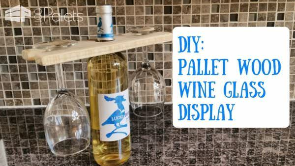 This Pallet Wine Glass Holder is a terrific last-minute gift for those late party invites.