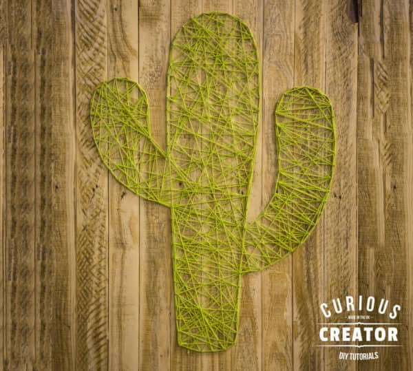 With a few simple supplies and tools, you and your family can make an adorable Pallet Cactus String Art.