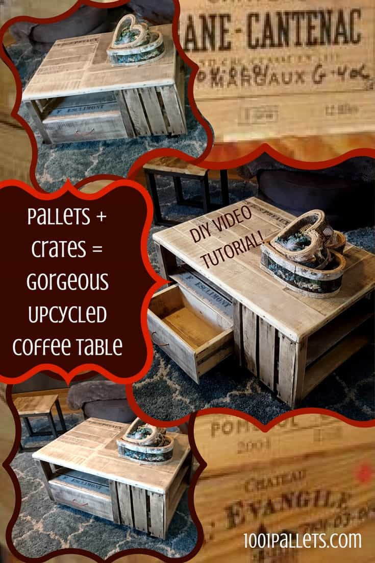 Pallet coffee table diy plans 1001 pallets pallet crate coffee table geotapseo Images