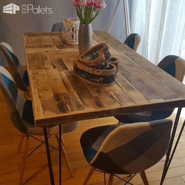 Pallet/Crate Dining Table DIY Pallet Video Tutorials Pallet Desks & Pallet Tables