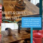 Pallet/Crate Dining Table