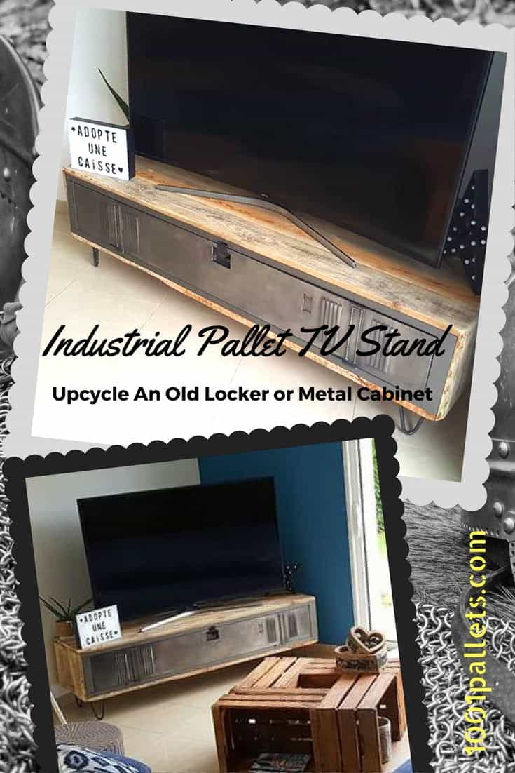 Diy Tv Stand Ideas And Tips From 1001pallets # Meuble Tv Audio Video