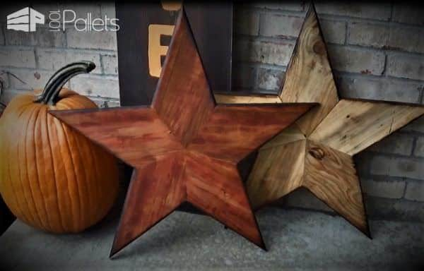 These Pallet Wood Stars make a great decoration for indoors or outdoors. Make them as a gift, or just for yourself. We have a DIY Video Tutorial and you can always purchase a reasonably-priced set of drawings available on etsy.