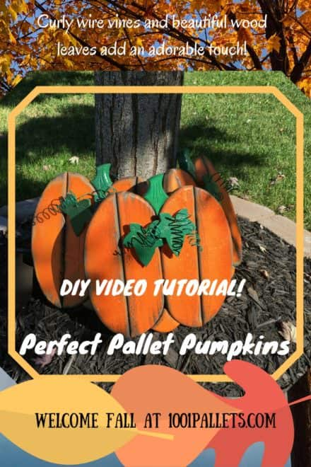 Diy Video Tutorial: Perfect Pallet Pumpkins