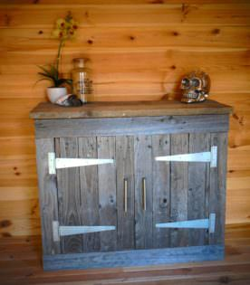 Reclaimed Pallet Wood Cabinet 1001 Pallets