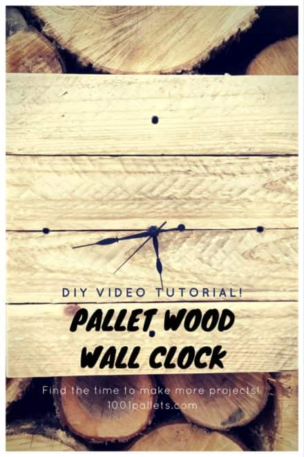 Rustic Pallet Wood Wall Clock