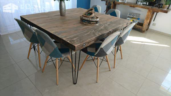 Upcycled Wood Dining Table DIY Pallet Video TutorialsPallet Desks & Pallet Tables