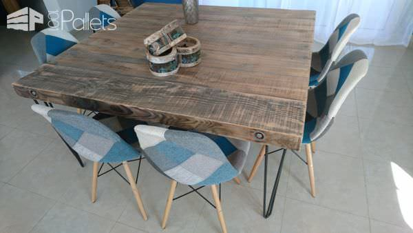 Upcycled Wood Dining Table DIY Pallet Video Tutorials Pallet Desks & Pallet Tables