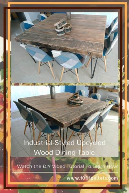 Diy Video Tutorial: Upcycled Wood Dining Table