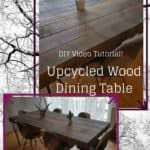 Upcycled Wood Dinner Table