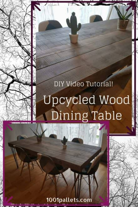 Diy Video Tutorial: Upcycled Wood Dinner Table