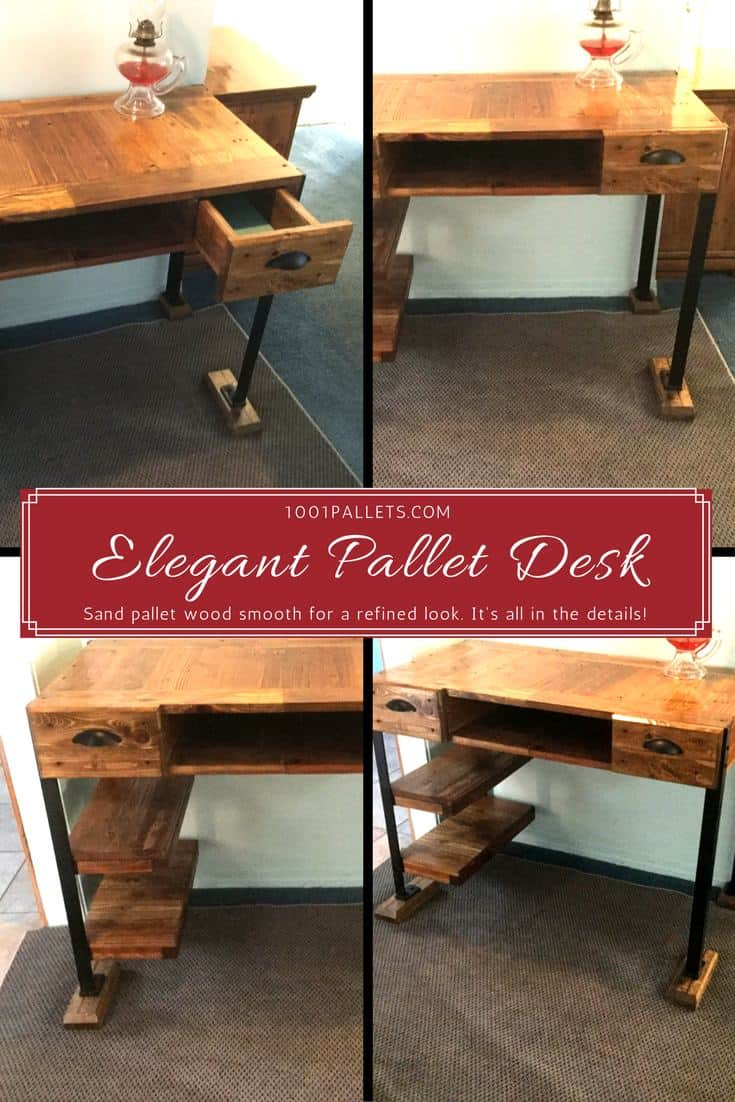 Elegant Pallet Desk Makes Perfect Gift!