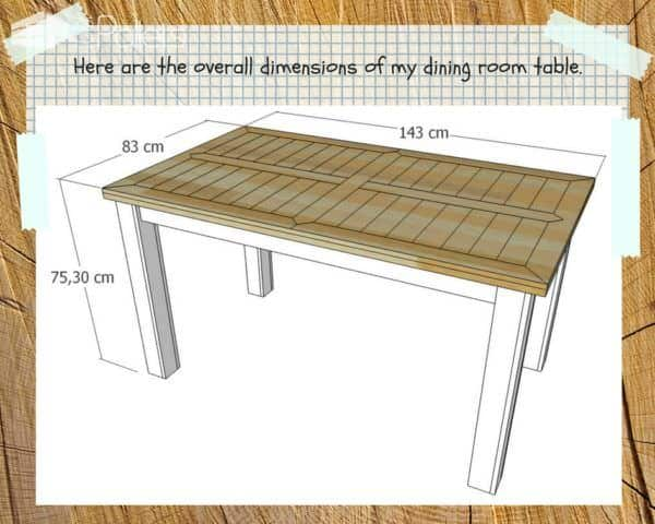 The step by step downloadable tutorial will help you to build this Indoor/Outdoor Pallet Dining Room Table.