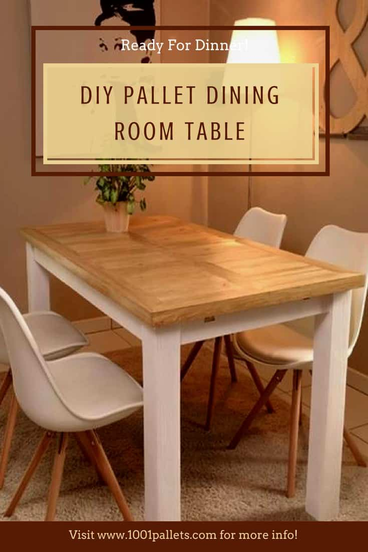 diy furniture made from pallets. indoor/outdoor pallet dining room table diy furniture made from pallets