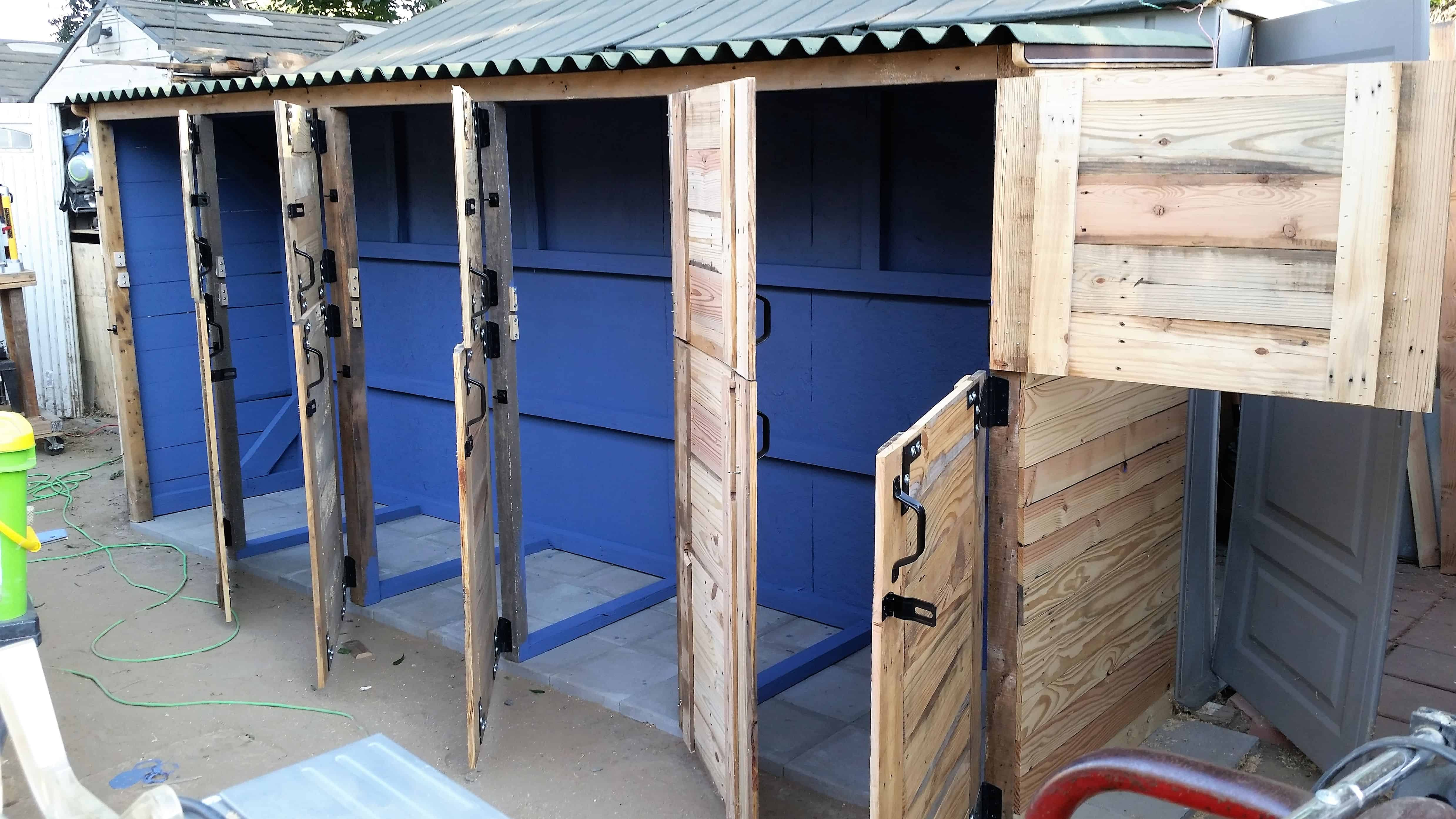 DIYBuild a Shed with Old Doors for Walls Downloadable
