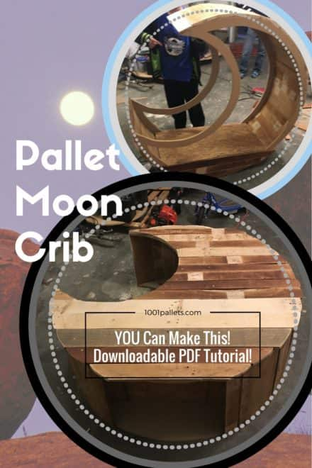 Pallet Crescent Moon Crib Takes Shape!
