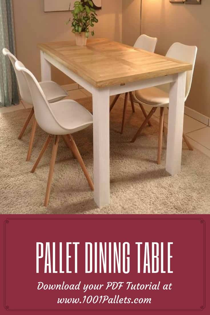 DIY PDF Tutorial Pallet Dining Table • 1001 Pallets • FREE ...