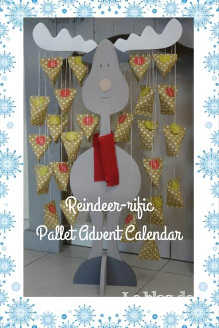 Reindeer-shaped Pallet Advent Calendar