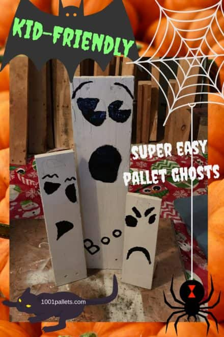 Simple Pallet Ghosts Kids Can Create!